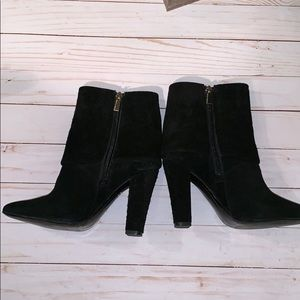 Vince Camuto Black Suede Booties cuff 7 1/2